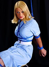 Hot Jasmine Sinclair\'s in nurse\'s uniform tied